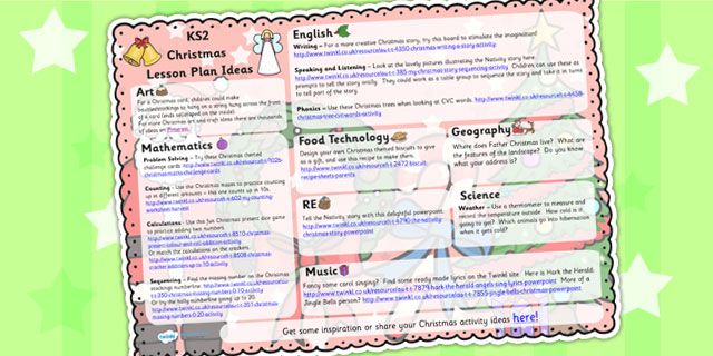Worksheet. Twinkl Resources  Christmas Lesson Plan IdeasKS1  Printable
