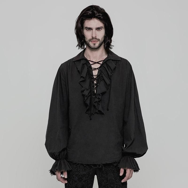 Steampunk Gothic Victorian Men´s Long Sleeve Shirt