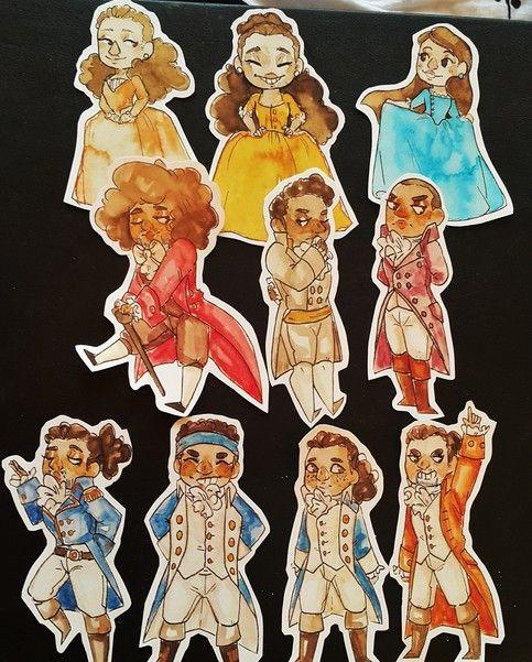 Hamilton stickers set from KuroLeLion's | Hamilton