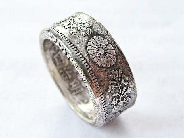 Japanese Coin Ring Coin Rings In 2019 Jewelry Rings