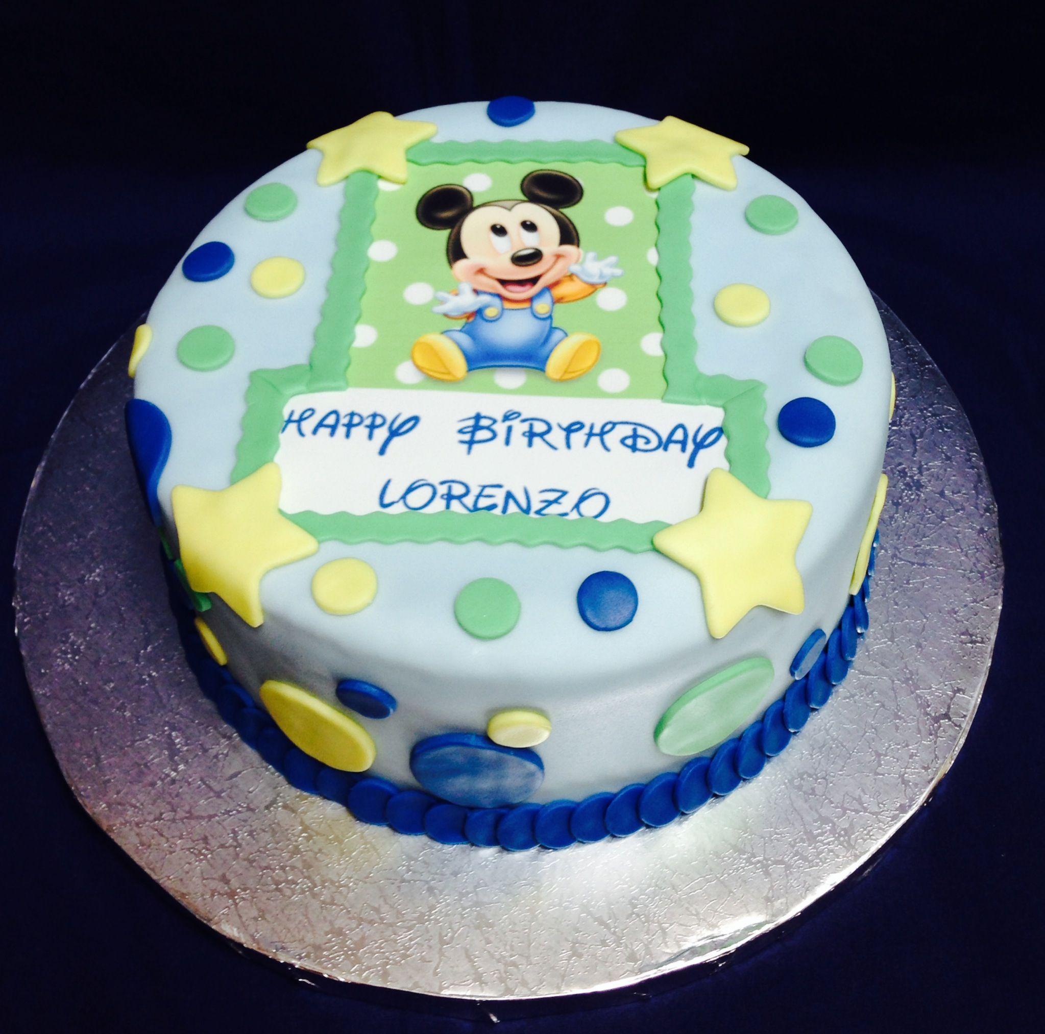 Astounding Baby Mickey Mouse Birthday 1St Birthday Cakes Mickey 1St Personalised Birthday Cards Sponlily Jamesorg