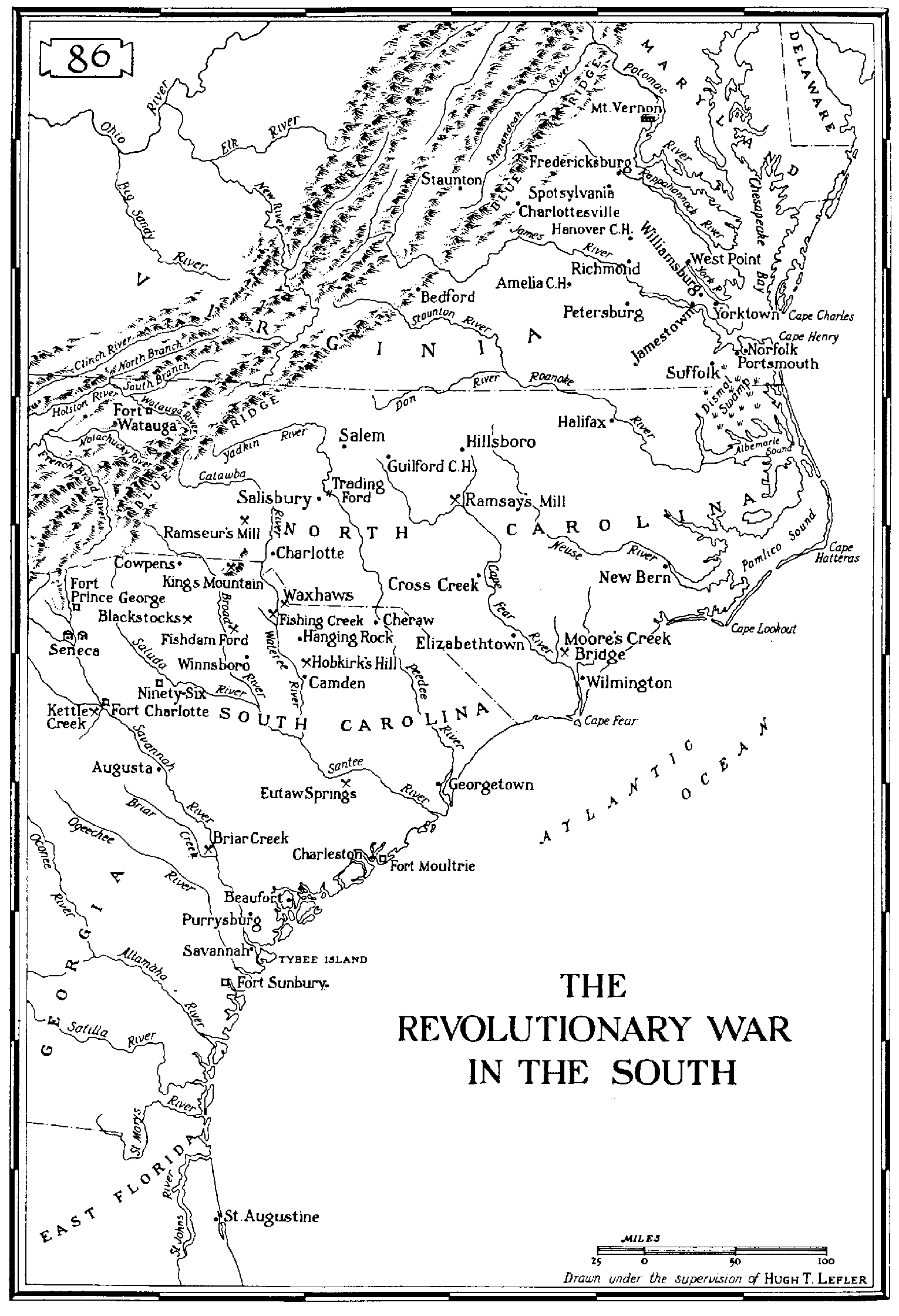The 1781 1782 Truce Land Extended From The Great Pee Dee River To