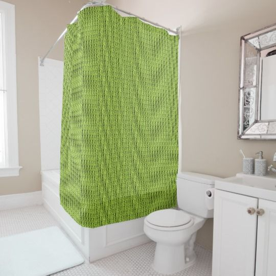 Spring-Olive_Chateau-Green(c) Bathroom Shower Curtain