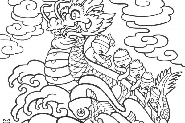 chinese new year dragon coloring page top printable chinese new
