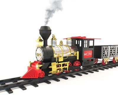 MOTA Holiday Train Set with Smoke and Sound in Black/Red