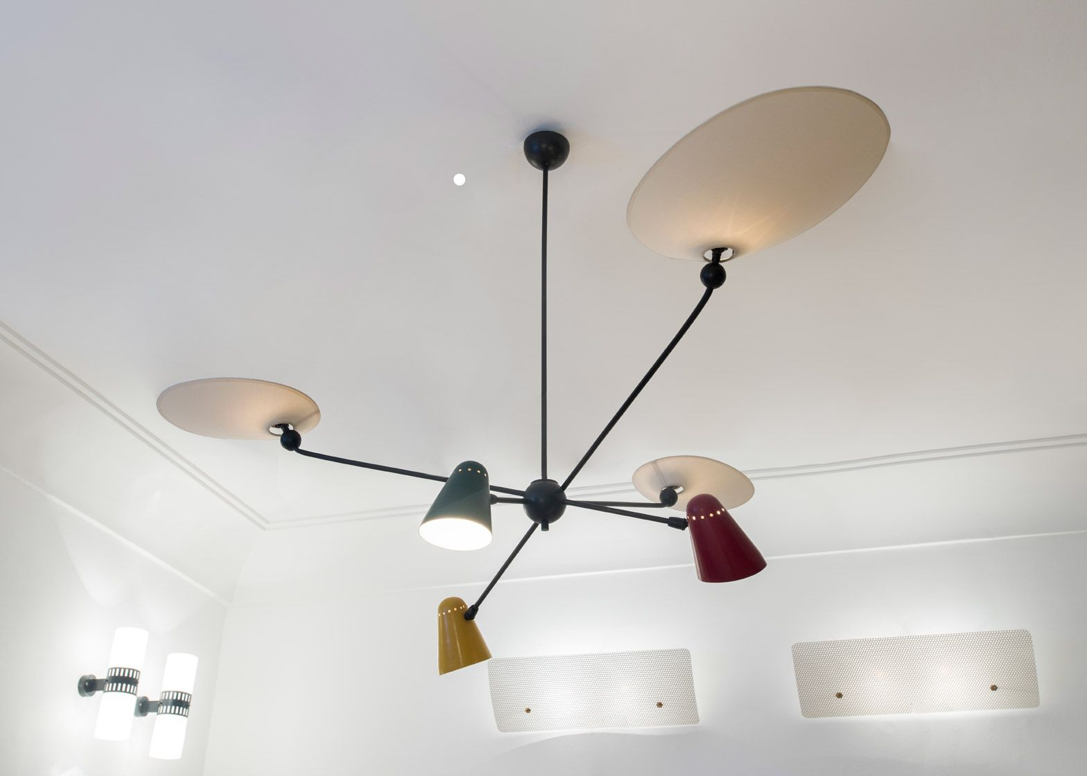 Modernist Lamps By Mid Century French Designers Including