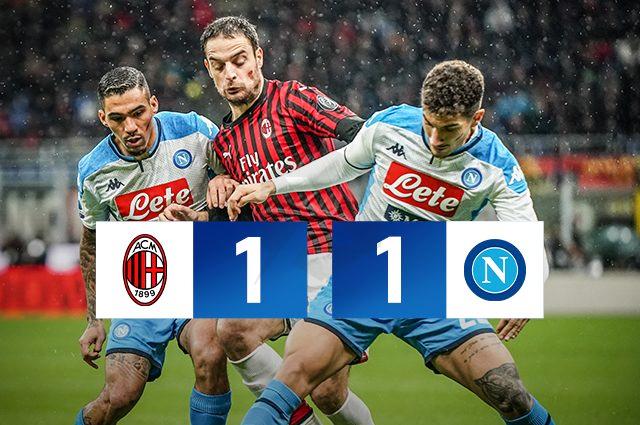 Lozano Opens Bonaventure Closes Milan Napoli Ended 1 1 Bonaventure Napoli Milan