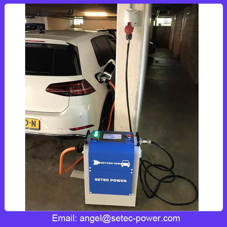 20kw Portable Ev Charger With Chademo And Ccs Plugs Ev Charger Ev Chargers Charger