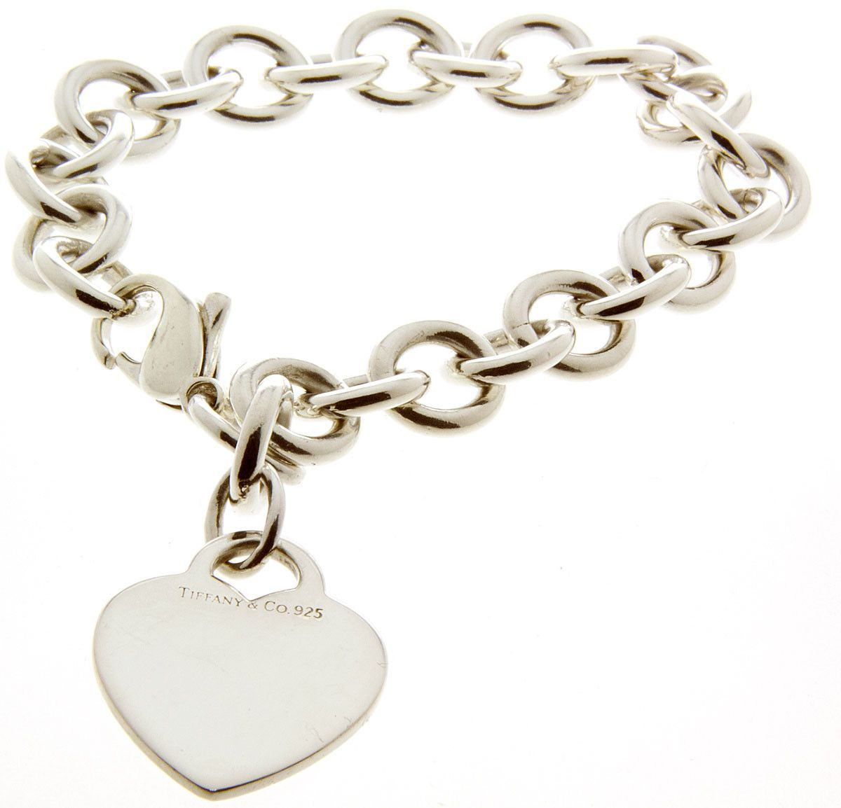 90f5256bfc0d Tiffany   Co. Heart Tag Charm Bracelet
