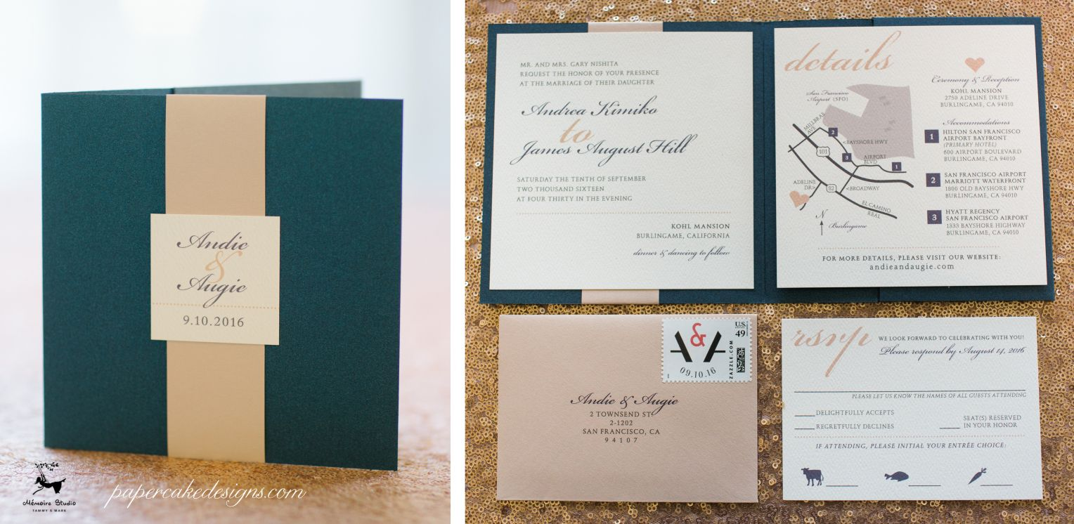 Wedding Invitations Pocket Folder Suite [photos by Memoire Studio ...
