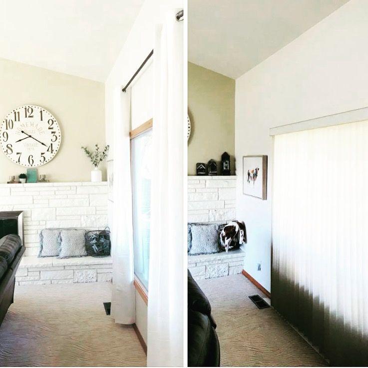 DIY Industrial farmhouse curtain rods
