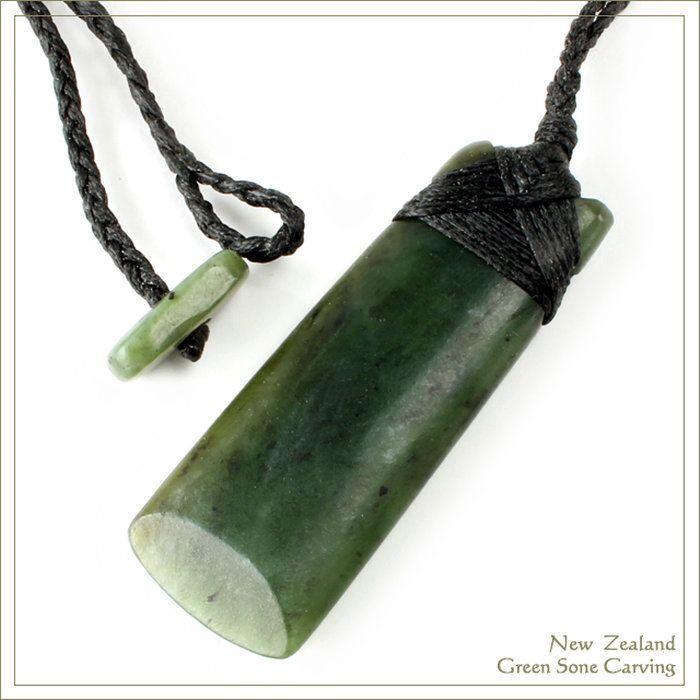 ニュージーランドグリーンストーンマオリカービング/トキTOKI