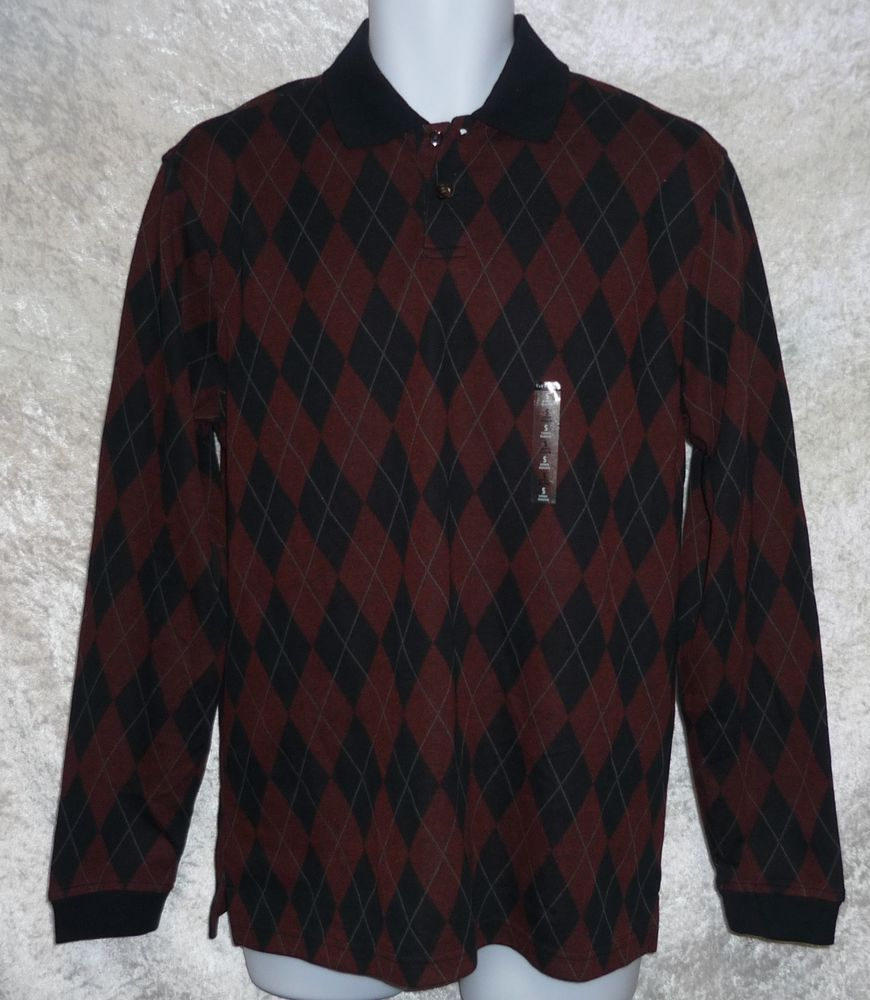 Van Heusen men's polo shirt wrinkle free argyle print long sleeve size S NEW  12.99 http://www.ebay.com/itm/Van-Heusen-mens-polo-shirt-wrinkle-free-argyle-print-long-sleeve-size-S-NEW-/261972393977?ssPageName=STRK:MESE:IT