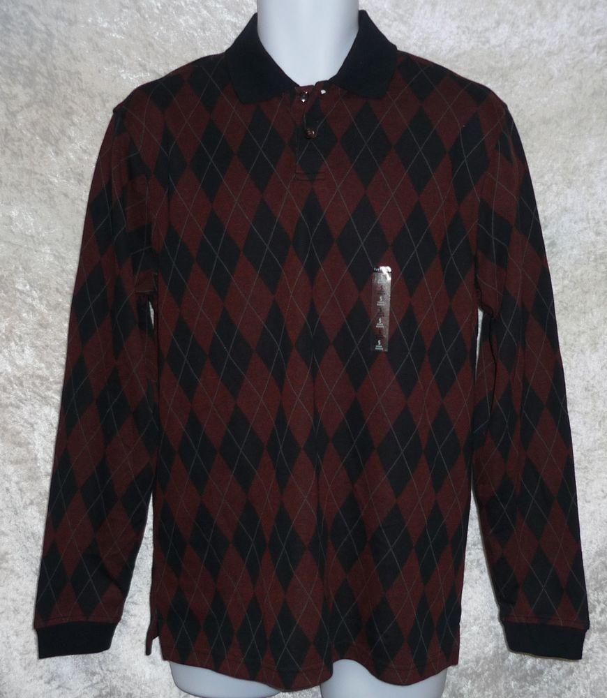 Van Heusen men's polo shirt wrinkle free argyle print long sleeve size S NEW  12.99 http://www.ebay.com/itm/Van-Heusen-mens-polo-shirt-wrinkle-free-argyle-print-long-sleeve-size-S-NEW-/261972393977?ssPageName=STRK:MESE:IT