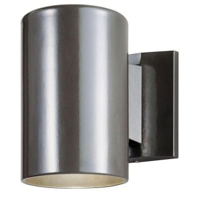 Westinghouse 1 Light Bronze Exterior Wall Lantern With Aluminum Cylinder 6797300 At The Home Depot Wall Lights Wall Lantern Wall Fixtures