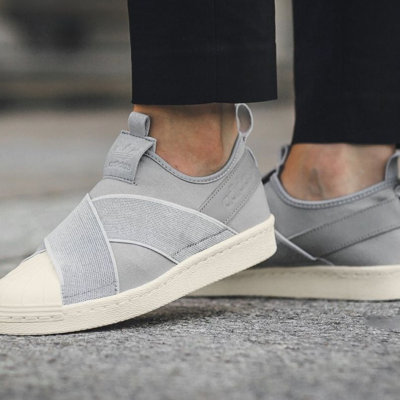 894966e9b Laceless sneakers are all the rage and adidas Originals has revisited its Superstar  Slip-On