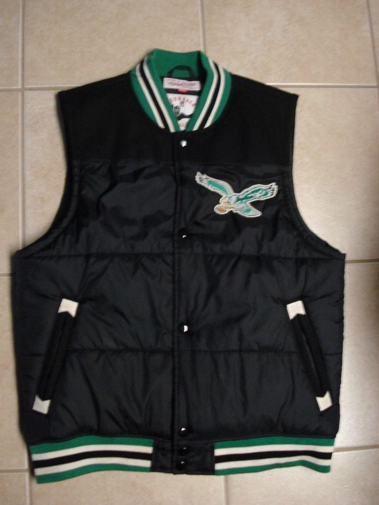 f9d46a3e357 Philadelphia Eagles Mitchell   Ness NFL Throwback Vest Jacket