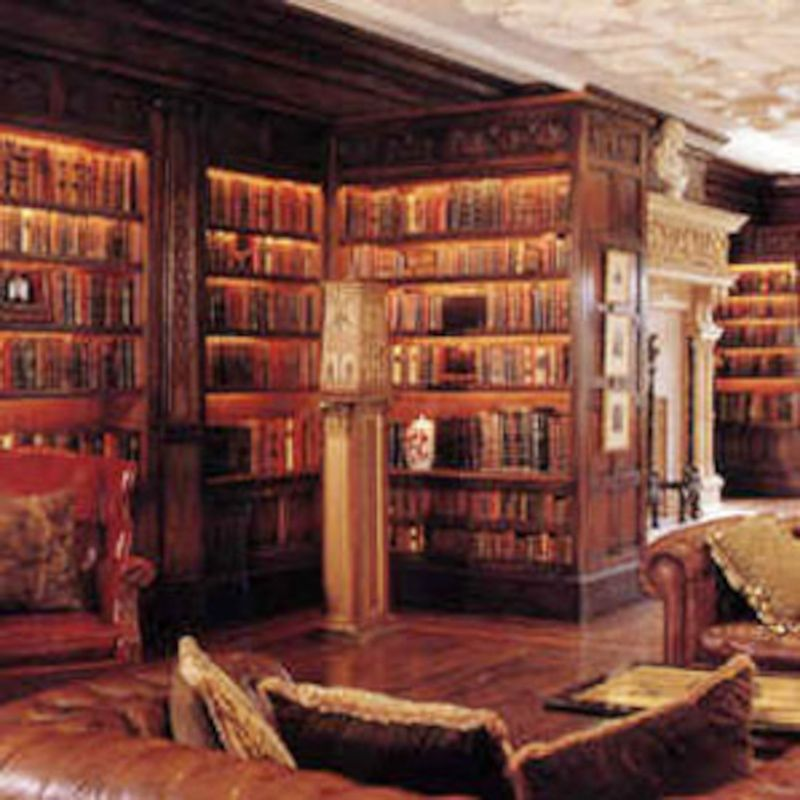 Hand Carved Library In Solid Oak Designed And Installed San Francisco By Stuart Interiors