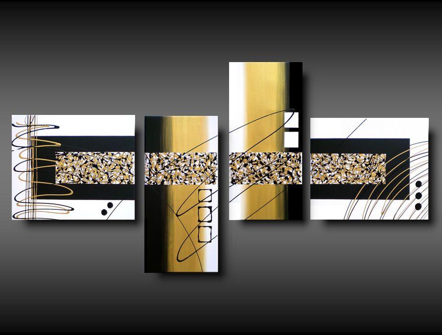 Tele Dipinte Moderne.4 Tele Dipinte A Mano Moderne Cuadro Triptico Pinterest