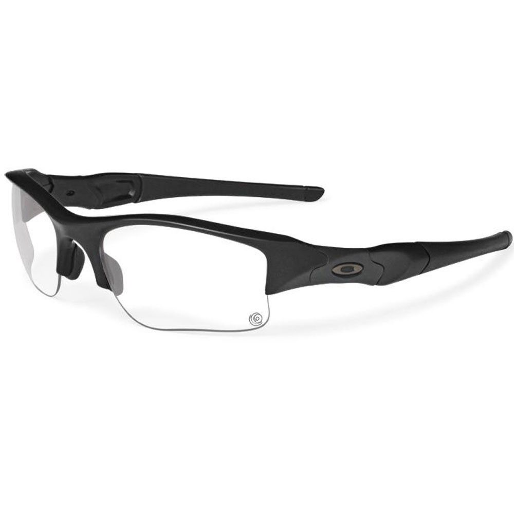 836597ad10ccc SI Flak Jacket XLJ Sunglasses - Matte Black with Clear Grey Transition Lens