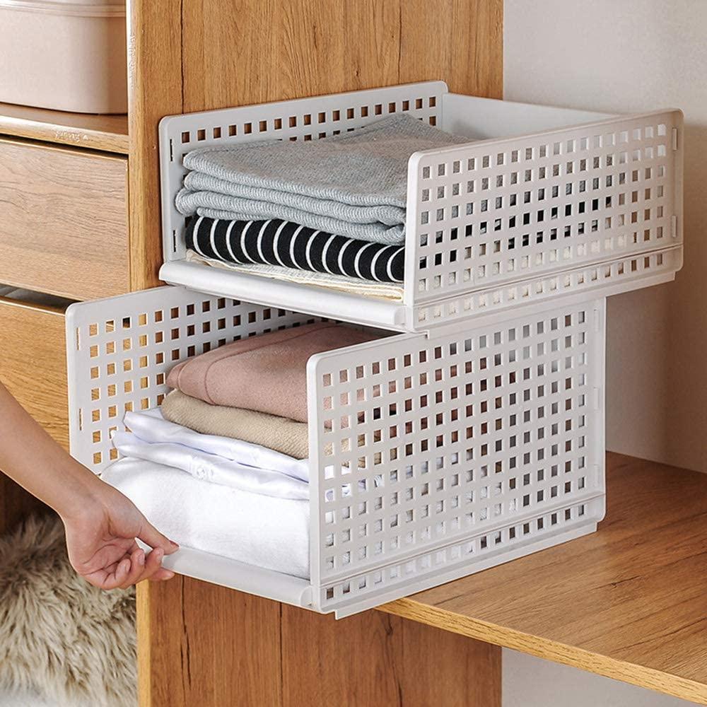 Homieco Stapelbarer Kunststoff Kleiderschrank Aufbewahrungs Organizer Abnehmbarer Regal Schr In 2020 Kleiderschrankaufbewahrung Schlafzimmerorganisation Kleiderschrank