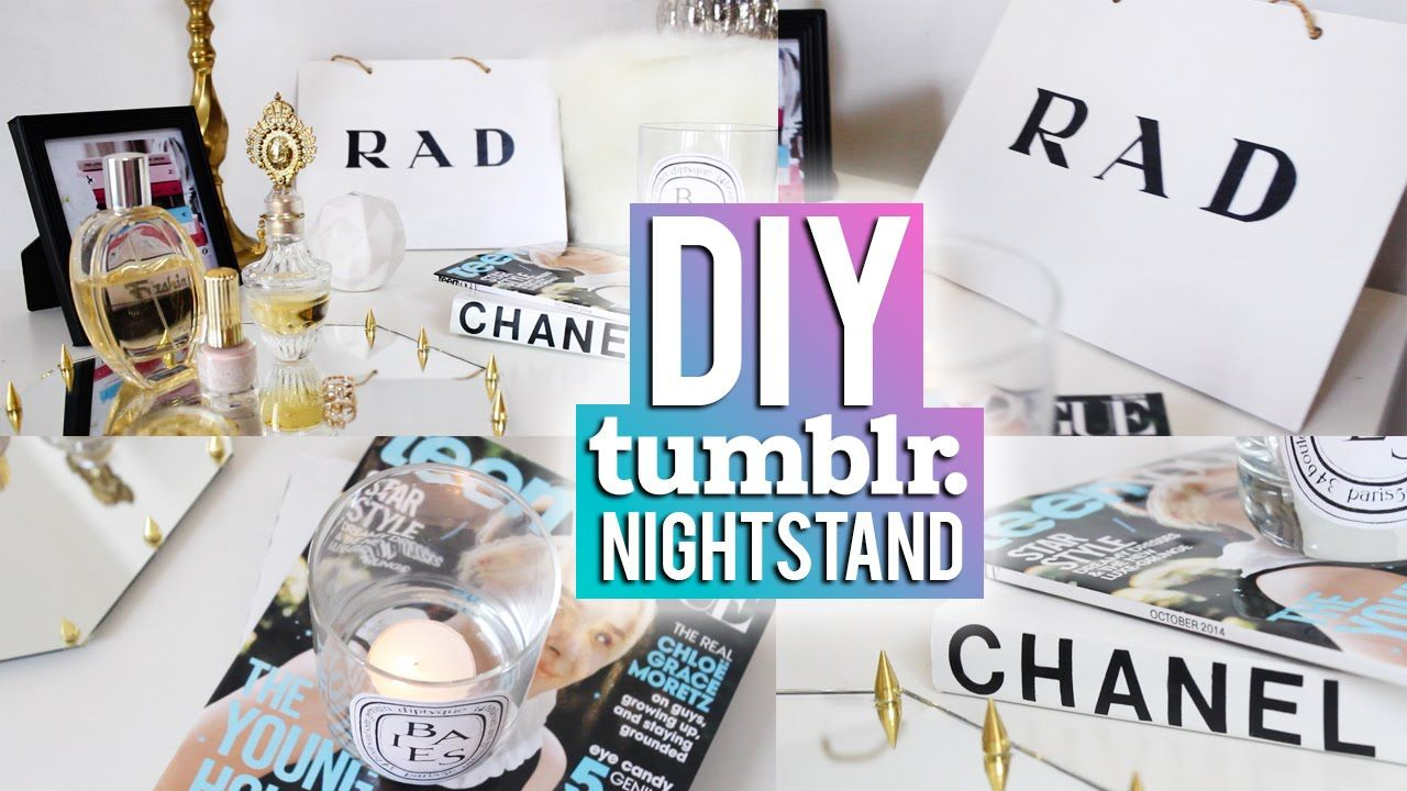 Bedside table decor tumblr - Diy Nightstand Decor Tumblr Inspired
