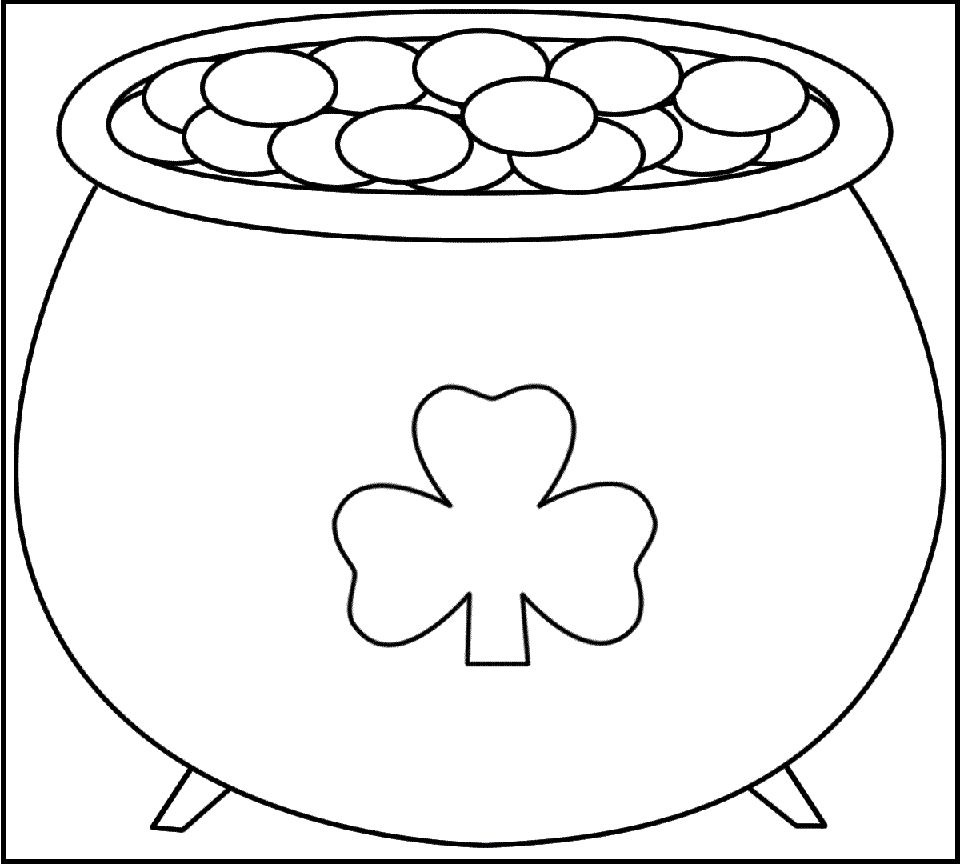 Pot Of Gold Coloring Pages Printable St Patricks Day Pictures St Patricks Day Crafts For Kids St Patrick S Day Crafts