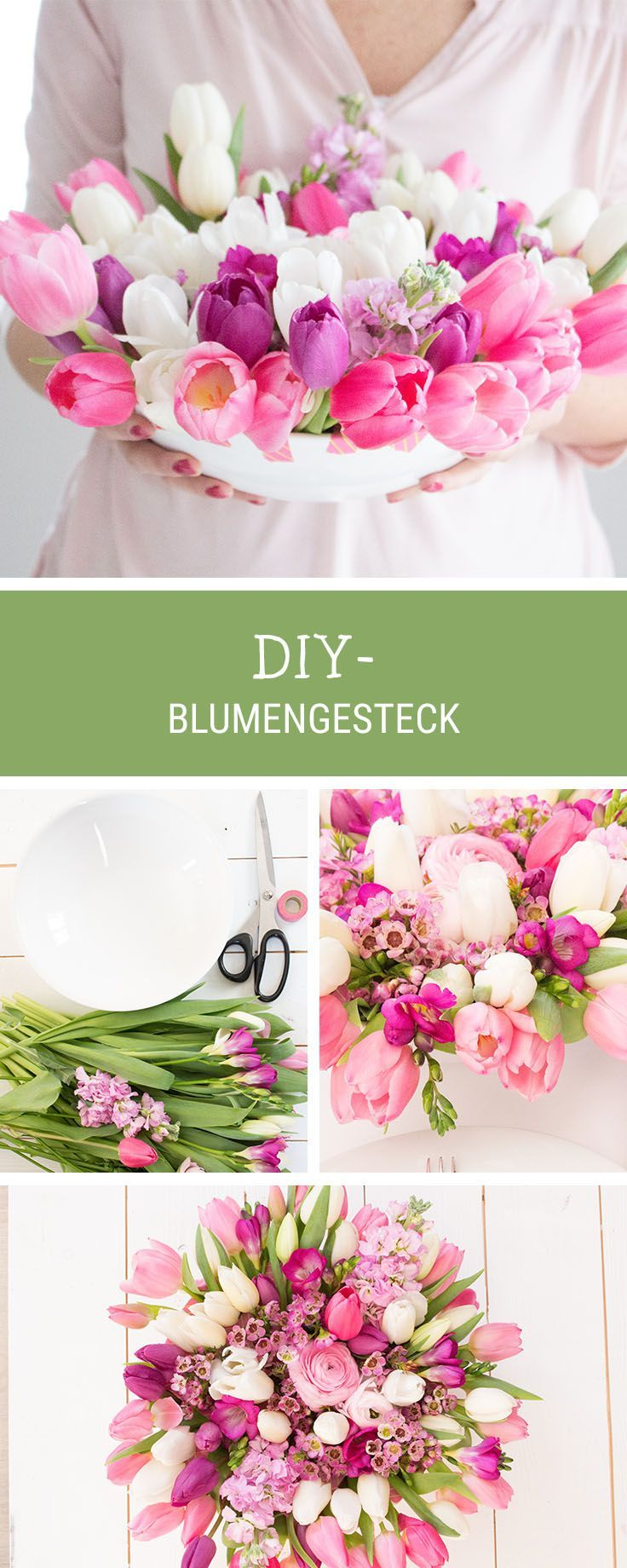 diy anleitung fr hlingshaftes blumengesteck selber machen via blumengestecke. Black Bedroom Furniture Sets. Home Design Ideas