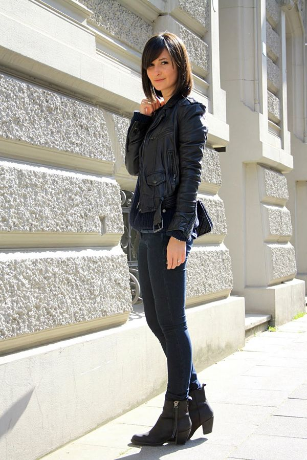 leather jacket skinnies acne pistol boots bad girls wear it better pinterest leather. Black Bedroom Furniture Sets. Home Design Ideas