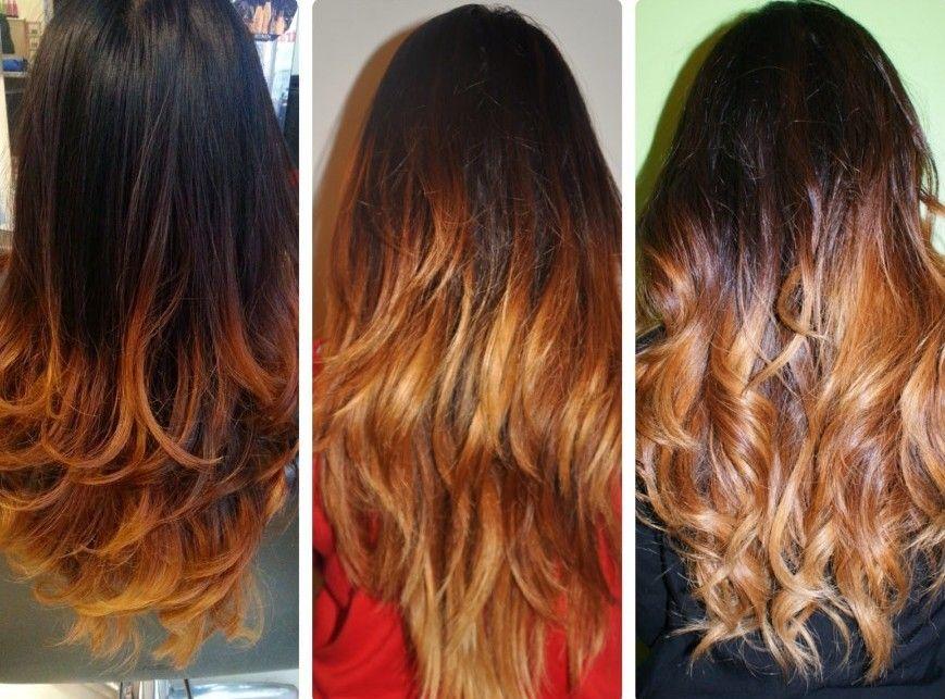 мелирование на темные волосы длинные фото до и после