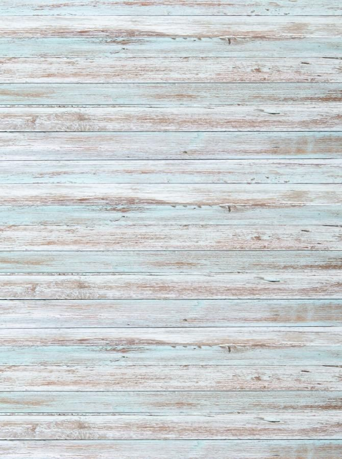 Light Wood Paneling: White Baby Blue Washed Out Wood Printed Backdrop