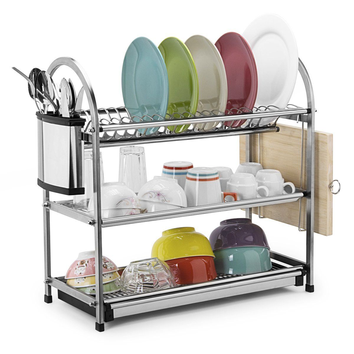 Amazon Drying Rack Amazon Toplife 3 Tier Stainless Steel Rustproof Dish Drainer
