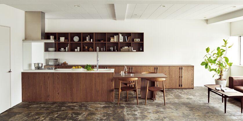 Lixil キッチン リシェルplat 施工イメージ Case2 人があつまる家 リビング キッチン システムキッチン 自宅で