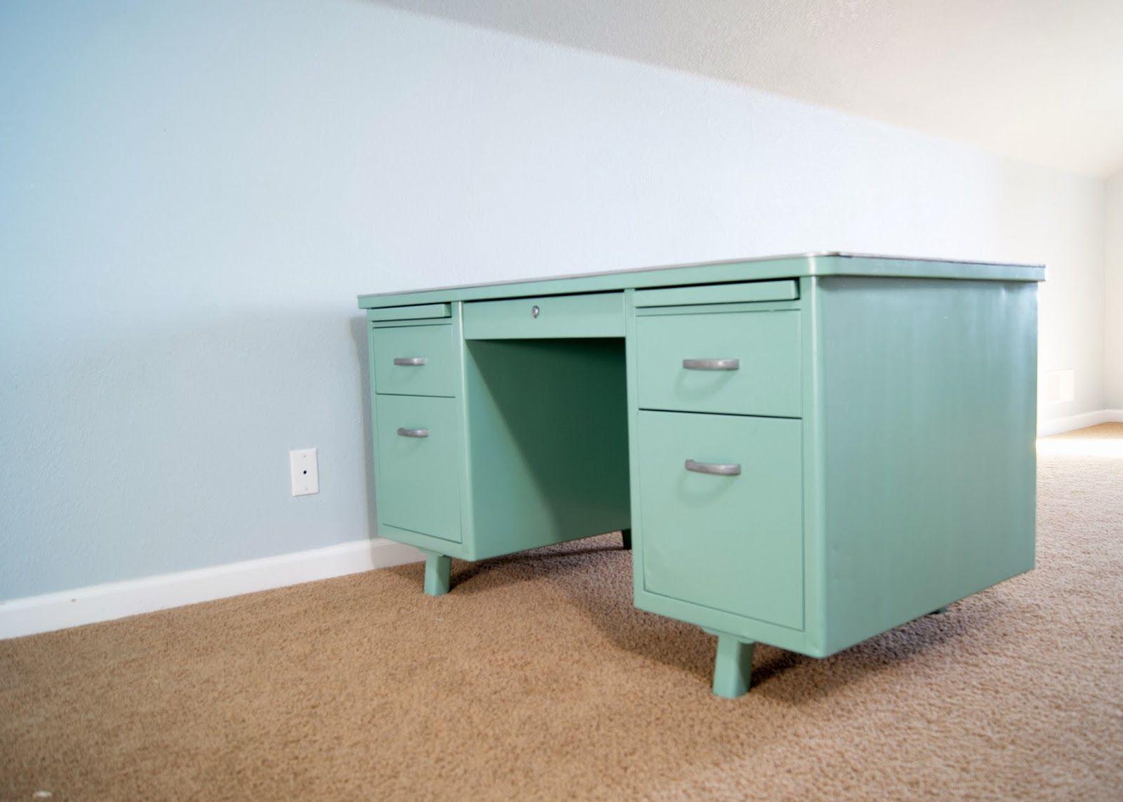 metal desks for office. Vintage Metal Army Desk Before And After Desks For Office P