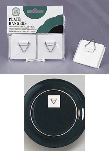 Plate Holders - Self Stick Adhesive Plate Hangers - Set of 2 ...