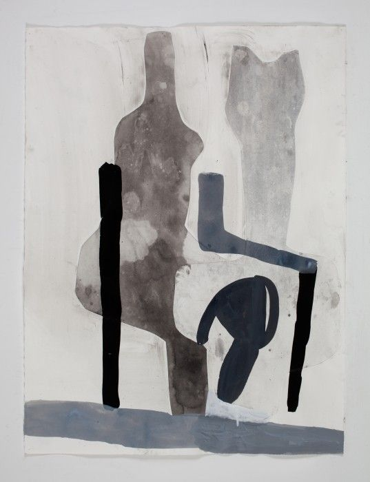 A Shape that Stands Up and Listens 34, 2013 by Amy Sillman