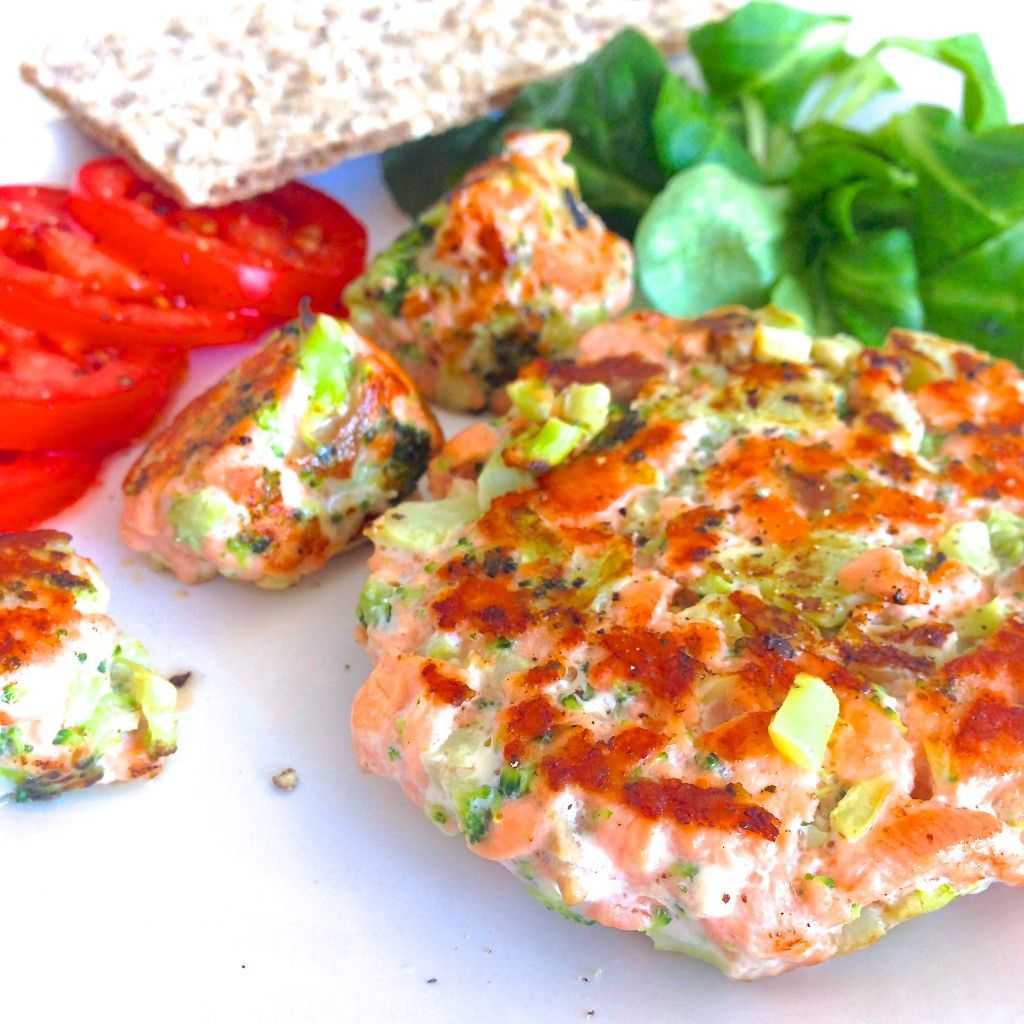Receta fitness hamburguesas de salm n y br coli recetas que me gustan pinterest - La cocina fit de vikika pdf ...
