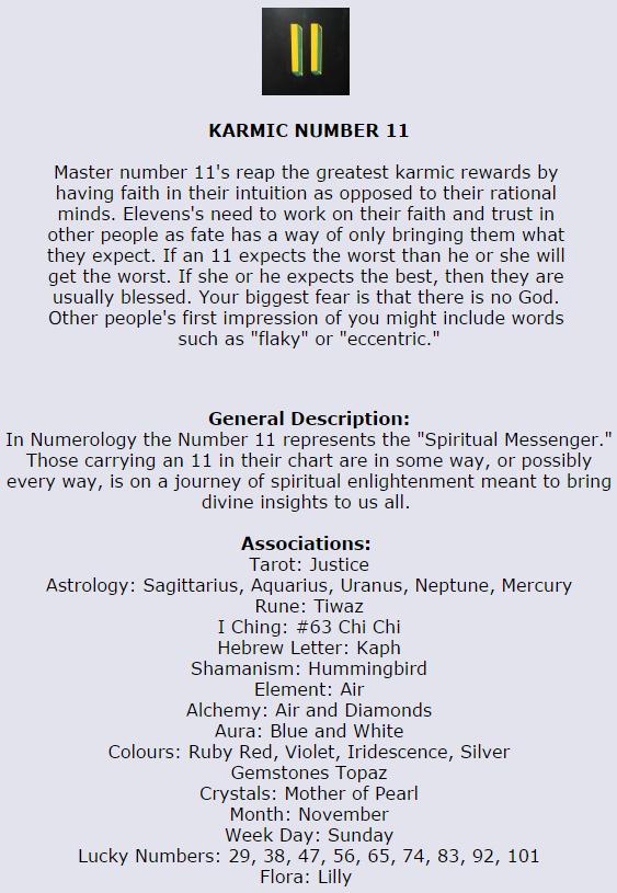 Karmic Number 11 #numerologynumbers | Numerology