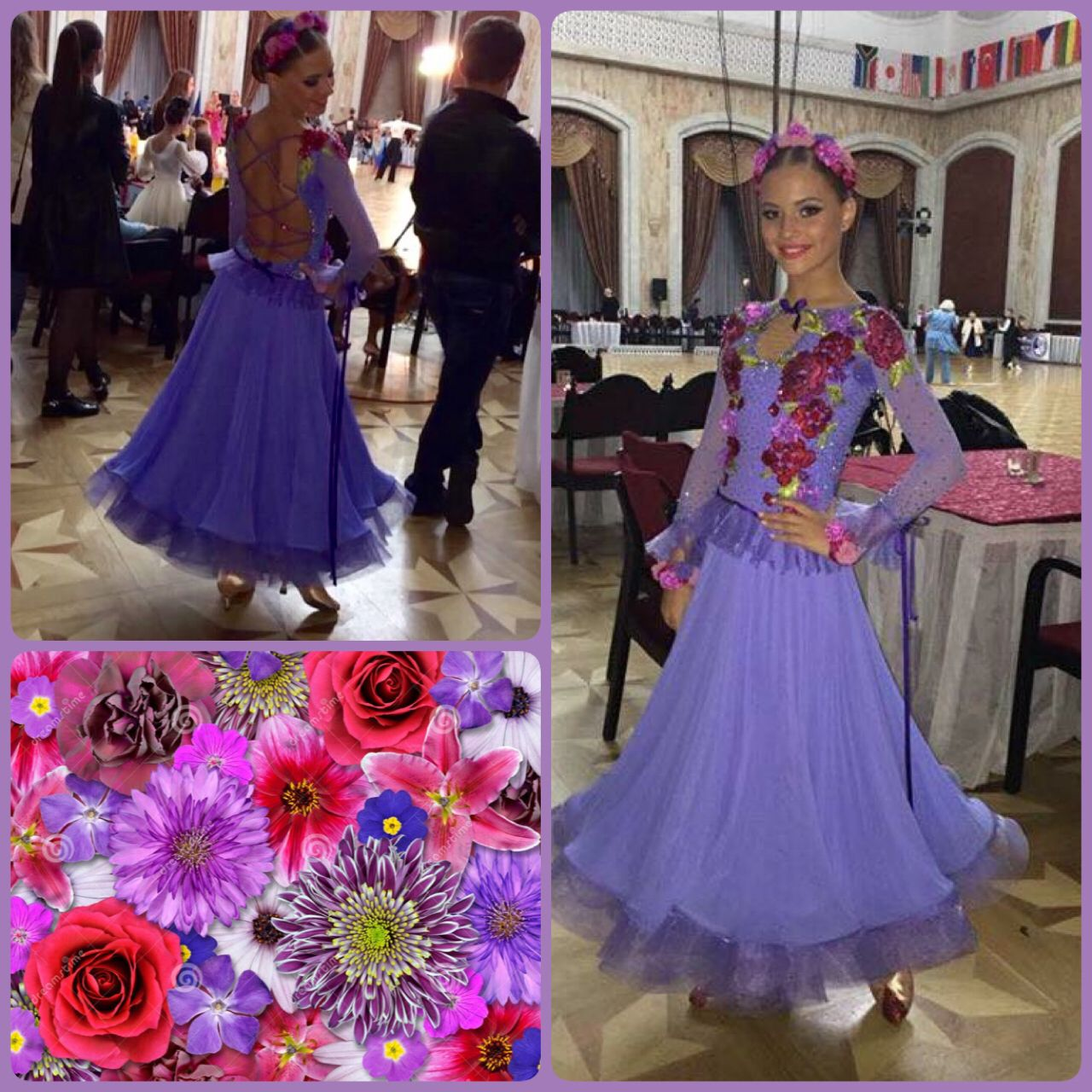 Congratulations to Olia and Misha for reaching semifinal in world championship!!! We are very proud of you! You are dancing amazing, it's so nice to see how hard you are working! You deserve it! And you look gorgeous with this colorful and playful DLK united design dress #dlk_united_design #ballroom #ST #flowers #performance #hard_work #DLK