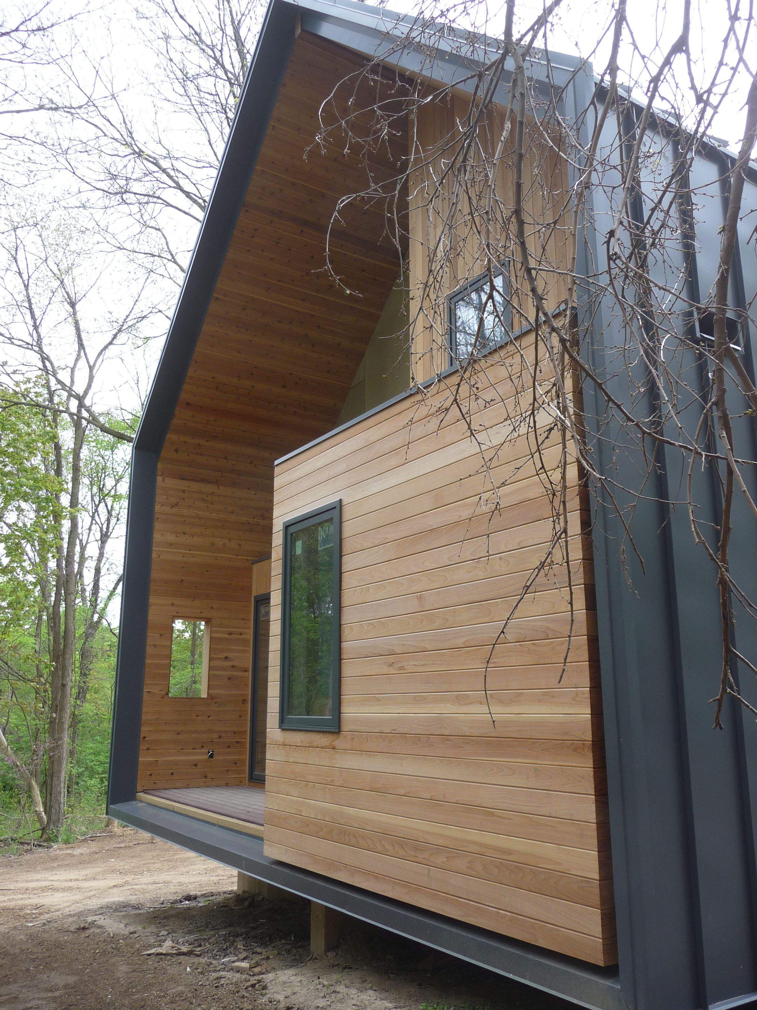 Blechfassade Kombiniert Mit Holz Im Nicht Nass Werdenden Bereich