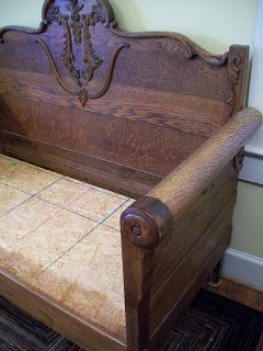 Super Antique Bed Is Repurposed And Used As A Bench Bench Seat Caraccident5 Cool Chair Designs And Ideas Caraccident5Info