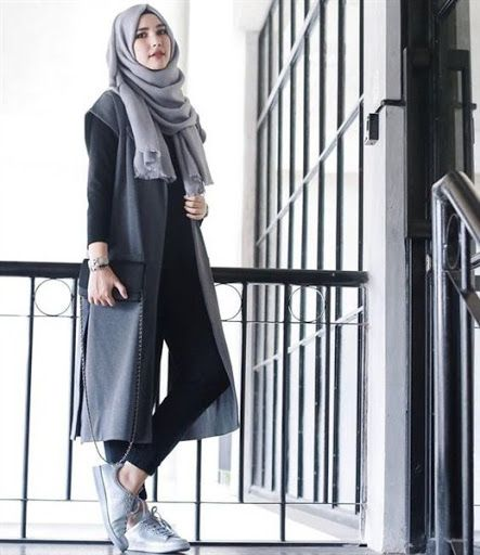 trend model busana hijab casual remaja terbaru 2017