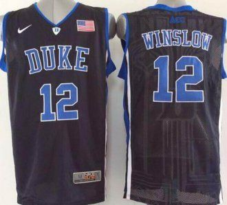newest 40739 4cb67 Duke Blue Devils #12 Justise Winslow Black Basketball ...