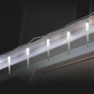check out danson decor icicle light battery operated light set