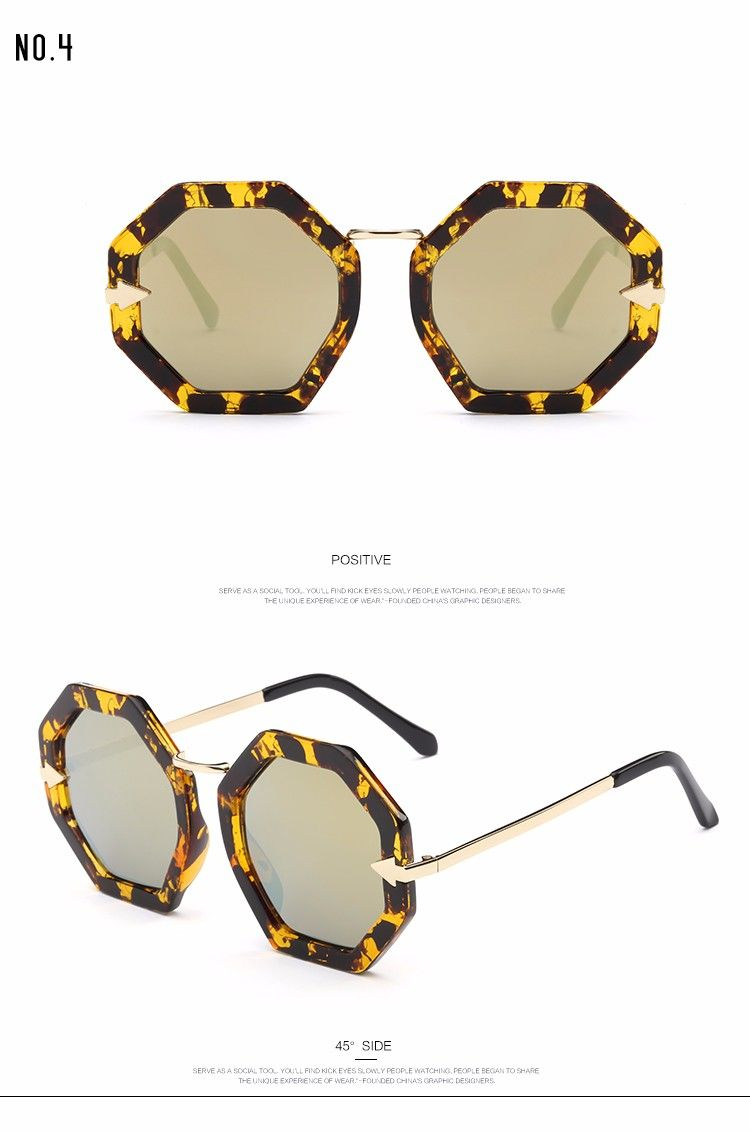dcd015d668 ROZA Sunglasses Women Summer Style Brand Designer Octagon Frame Sun Glasses  Retro Shades With Box QC0402