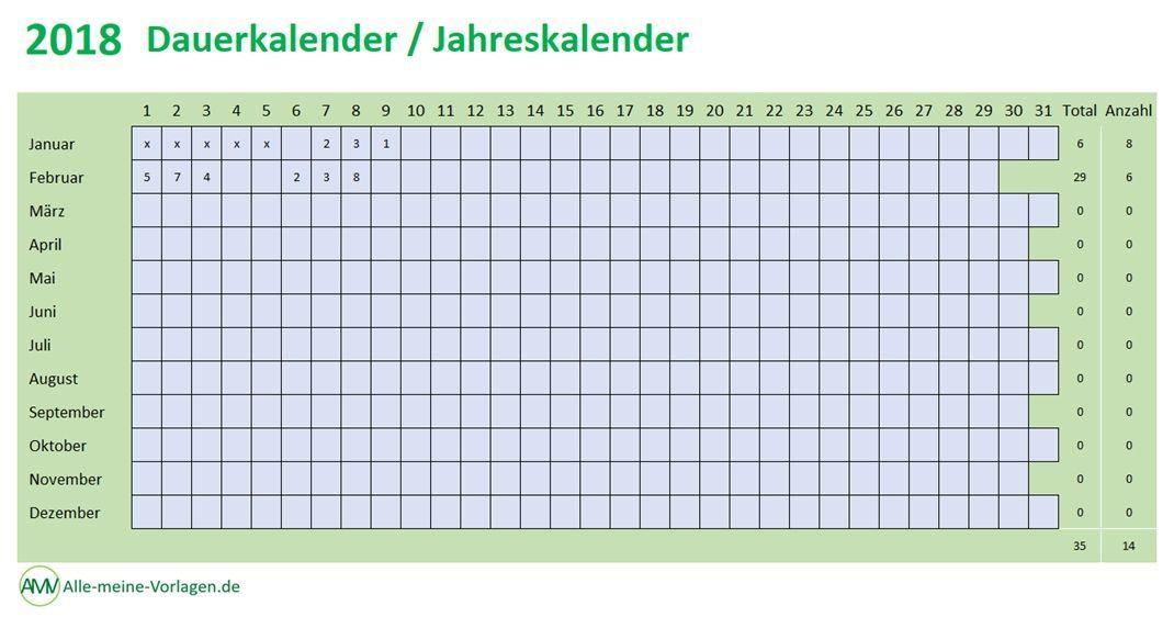 Dauerkalender, Jahreskalender, Ewiger Kalender. All das sind ...