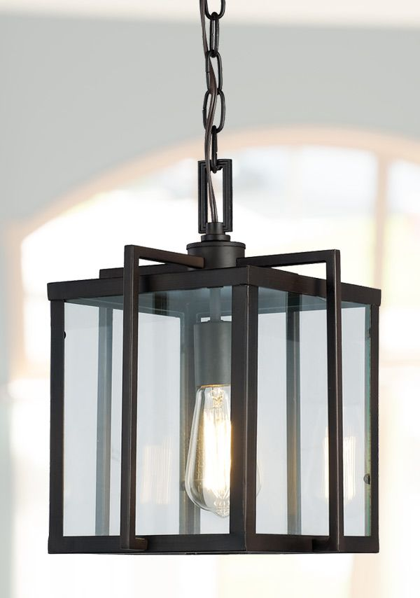 Foyer Pendant Light With Modern Lines And Edges