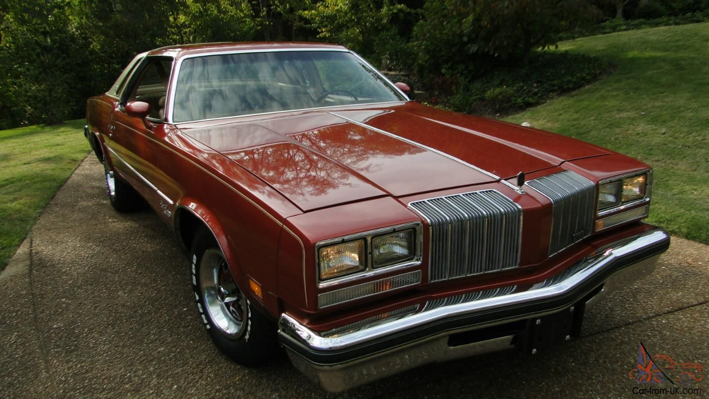 1977 oldsmobile cutlass supreme brougham in firethorn red
