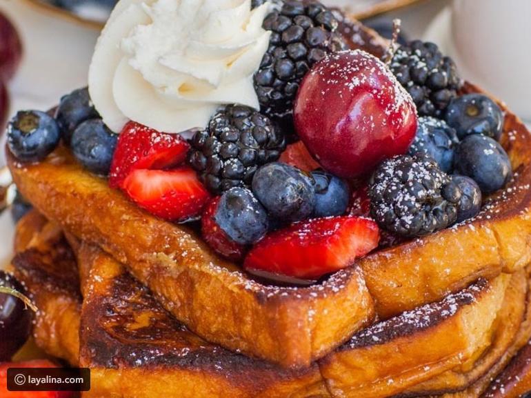 طريقة الـ فرنش توست ليالينا وصفات Frenchtoast Sweet Breakfast Food Tatyana S Everyday Food