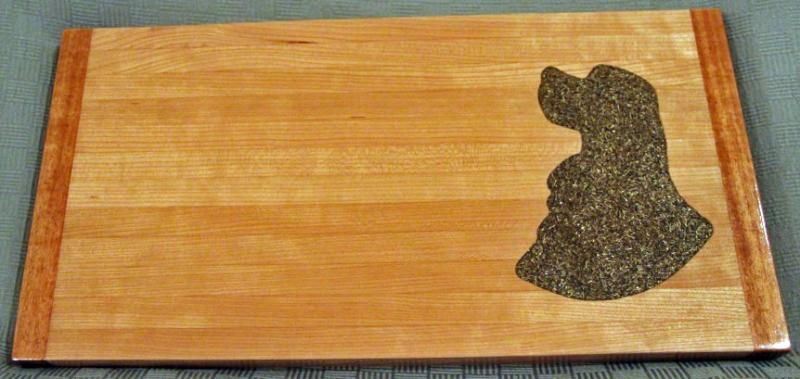 Cocker Spaniel wood handmade serving tray and cutting board.  wow, these are beautiful